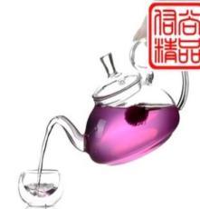 耐热玻璃茶具防掉盖高把壶仙踪壶壶口带过滤网茶壶八件套套装