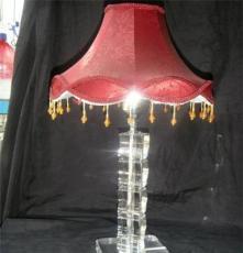 工廠直銷 K9水晶臺燈、布藝水晶臺燈、臥室臺燈、客房臺燈