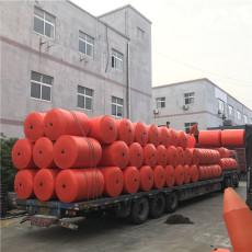 河道拦漂网核电站挂网塑料浮桶施工安装