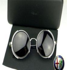 新品上市正品品牌太阳镜 圆型大框墨镜 男士女士同款太阳镜批发