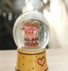 水晶球音樂盒 雪花 內景旋轉八音盒 生日禮物 送男生女生孩 創意