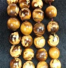 雕刻12mm虎眼石四神獸雕刻珠子(每條無燙金價格)源輝廠家直銷