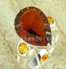 晶石戒指 時尚白搭 歐美流行 飾品批發 靚麗簡約風 925銀戒指