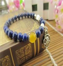 青金石藏銀手鏈 時尚韓版飾品 原產地貨源 一件代發