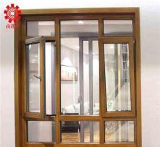 铝合金/120系列金橡木纹推拉窗/前进铝材