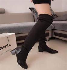 2013秋冬新款 小香平底彈力靴瘦腿過膝靴高筒平跟長靴子單靴女