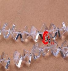 洛奇珠寶-DIY飾品配件材料 AAA級天然白水晶方塊半成品批發 32CM