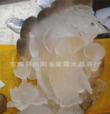 新品 天然白水晶觀世音菩薩雕刻擺件 家具裝飾品 工藝品辦公用品
