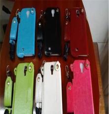 新款卡仕盾皮套三星I9500/S4手机壳三星手机保护套带挂绳