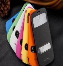厂家直销三星9300新款智能全皮开屏上下开窗手机皮套 热卖上市