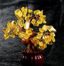 煦堯水晶*天然加色黃水晶招財樹擺件 水晶樹 迷你發財樹搖錢樹