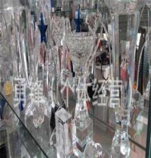 長期供應 磚雕水晶工藝品禮品 人造玻璃水晶工藝品