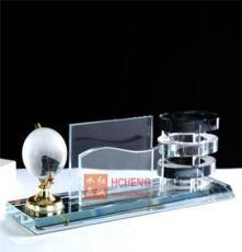 銷售 精品推薦 水晶三件套 水晶辦公禮品名片座 水晶禮品定制