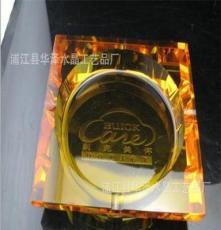 廠家直銷 金色水晶煙灰缸 黃色水晶煙灰缸 琥珀色水晶煙灰缸