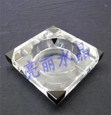 優質水晶工藝禮品玻璃煙缸 新款四方客廳辦公煙灰缸