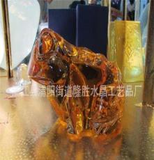 廠家供應水晶大件擺件 水晶青蛙水晶馬頭工藝品 定制批發專業生產