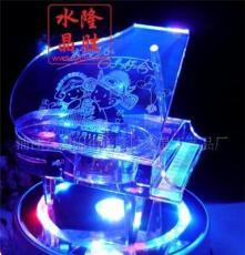 供應水晶鋼琴音樂盒 生日禮物情人禮品個性制作音盒 水晶禮品批發