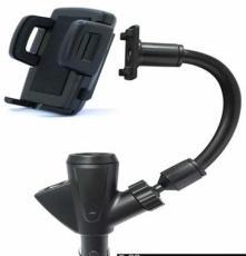 车载点烟器支架GPS导航手机支架USB双接口多功能支架点烟器新款式