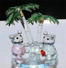水晶樹擺件 椰樹小熊 兒童生日禮物 寶貝禮物 海南旅游紀念品