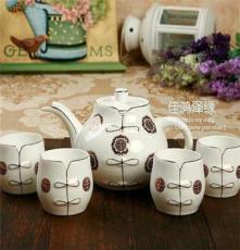 包邮 脸谱茶具5头套装 茶杯 骨瓷茶具 陶瓷功夫整套茶具 茶壶