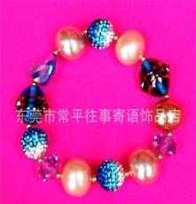 東莞彩色水晶手鏈 精美彩色水晶手鏈 水晶手鏈批發
