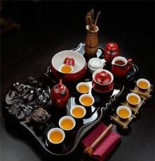 茶具套装特价 整套紫砂冰裂定窑功夫茶具 笑佛弥勒佛整块茶盘批发