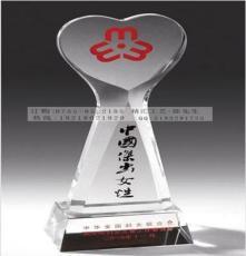 武漢愛心人物水晶獎杯獎牌定做,生產比賽獎品廠家直銷