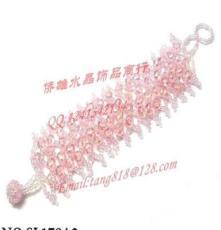 熱賣飾品混批 百元飾品混批 水晶編織飾品 鍍紫水晶 廠家直銷