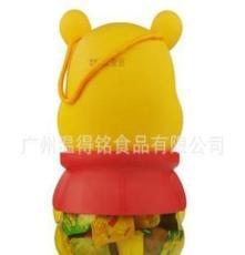 臺灣進口盛香珍小熊維尼優酪果園果凍布丁580g*6個/箱進口零食