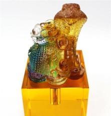 水晶印章 胎毛章 胎發印章 琉璃蛇章嬰兒紀念品生日禮品一件代發