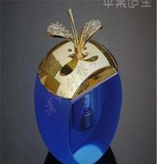廠家直售水晶金蘋果香水座工藝品 批發定制創意新奇特小商品禮物