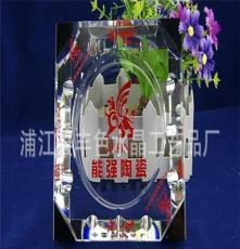 150MM拼角水晶煙灰缸 熱銷款 企業促銷展示 可定制LOGO水晶煙灰缸