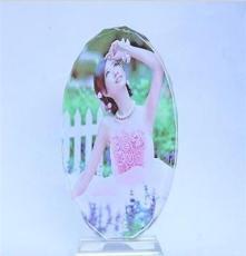 新品特價 水晶影像 水晶橢圓 生日禮物情人節禮物 創意禮品擺件