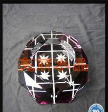 專業水晶煙缸廠家定制 色彩豐富鍍彩水晶禮品煙灰缸