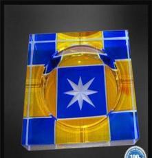 專業廠家定做禮品水晶工藝品 高檔水晶煙灰缸定制