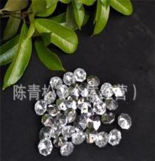 廠家直銷各種規格的八角珠,鍍彩八角珠,機磨八角珠,水晶燈配件