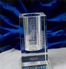 供應水晶辦公用品之筆筒水晶高檔商務水晶禮品