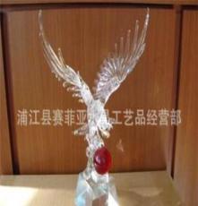供應水晶,水晶工藝品,水晶禮品 拉絲工藝品鷹
