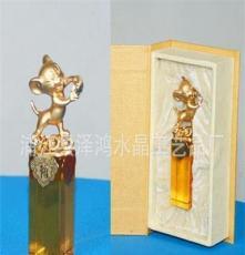 廠家專業生產批發十二生肖[老鼠]水晶印章,水晶胎毛印章 水晶禮品