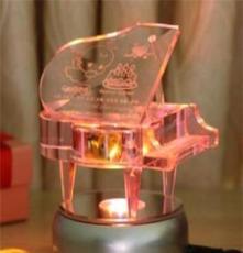 水晶鋼琴音樂盒八音盒 創意男女生日禮物 DIY照片 結婚禮品