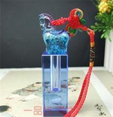 生肖馬 年紀念品 水晶琉璃胎毛章 胎發章 臍帶印章 批發不刻字