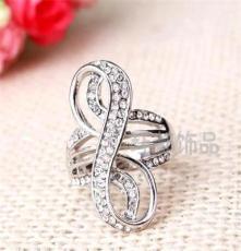三色可选饰品 水晶钻戒 外贸欧美戒指批发 潮流时尚JZ1885