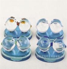 MS-SJ013汽車香水座 車載車用香水 水晶香水瓶 水晶對吻豬 車飾