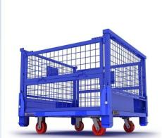 金屬周轉箱倉儲網格箱可折疊流轉箱周轉鐵框鋼箱物料箱廢料箱定制