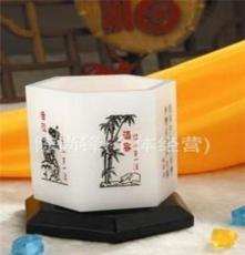 琉璃玉筆筒 商務饋贈禮品 辦公用品 廠家直銷 梅蘭竹菊筆筒