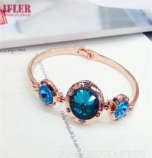 奢華頂級寶石 商場專柜寶石水晶系列 南韓明星流行手鐲批發