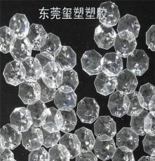 珠簾水晶掛飾22mm幾何形八角透明珠工藝品配件定制