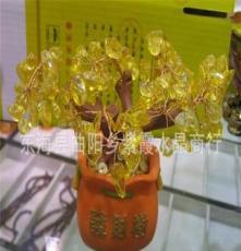 新品 天然黃水晶發財樹擺件辦公用品外貿出口工藝品禮品廠家批發