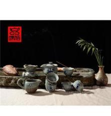 厂家批发创意茶具礼品青瓷茶具 茶具套装 特色茶具笑傲冰雪tz104