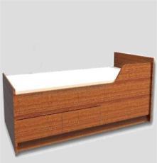 贴防火板木制船用单人床带梯子带抽屉